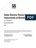 Solar Electric Power for Instruments at Remote Sites