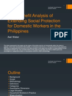 Cost-Benefit Analysis of Extending Social Protection for Domestic Workers in the Philippines
