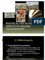 Political and Economic Aspects of Spanish Colonization