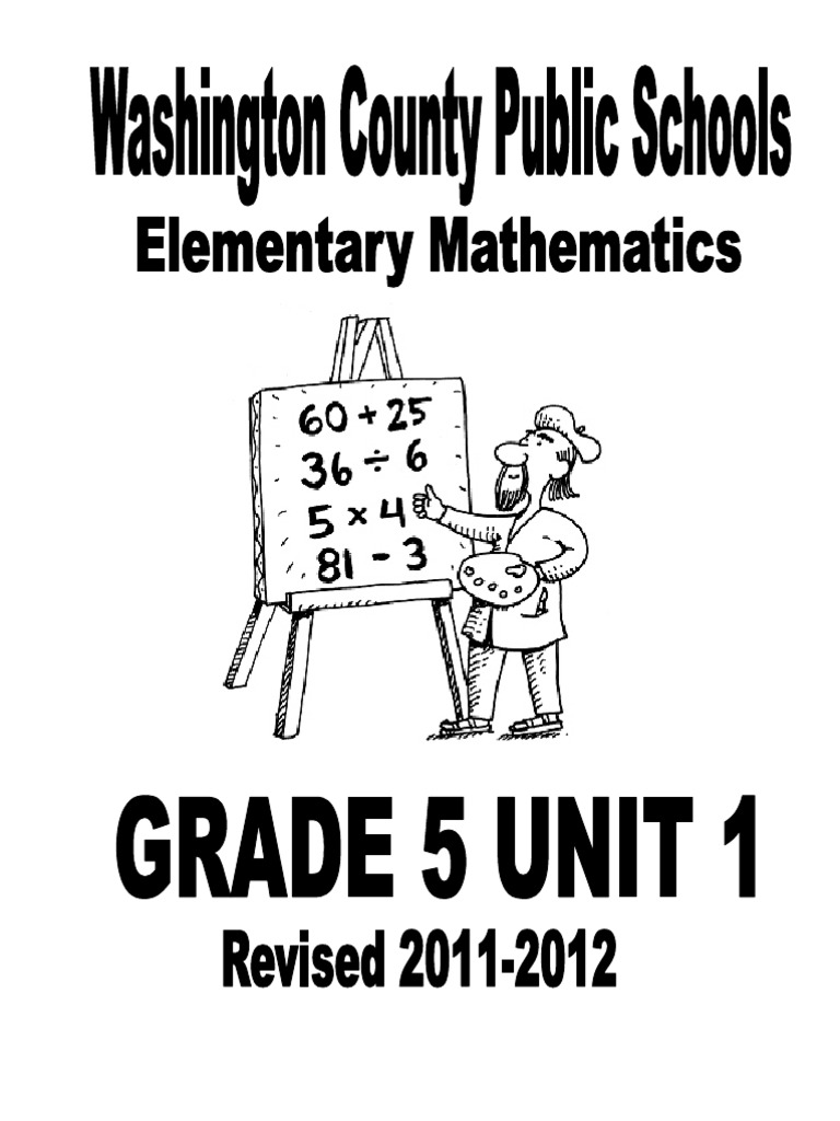 Grade 5 Unit 1 2011-2012 FINAL | Fraction (Mathematics) | Division ...