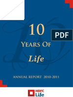 HDFC Life Annual Report 10-11