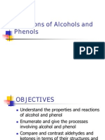 Reactions of Alcohols, Phenols, Aldehydes and Ketones