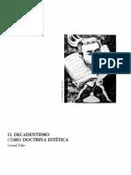 El decadentismo como doctrina estética, Gerard Vilar