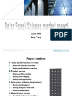 Solar Panel Chinese Market Report