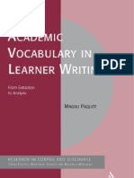 Academic Vocabulary in Learner Writing