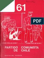Boletín del Exterior Partido Comunista de Chile Nº61