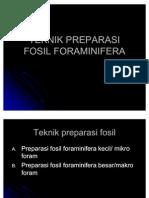 Teknik Preparasi Fosil era