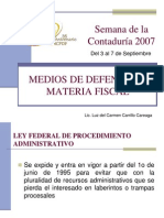 Medios de Defensa Fiscal