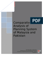 Comparative Analysis of Planning of Pakistan and Malaysia