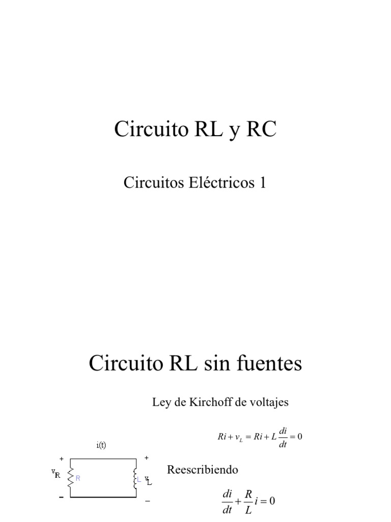 Circuito Rl : Análisis energético de circuítos rl rc y rlc ppt descargar
