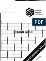 Concrete Masonry - Free Standing Walls
