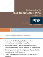 Understanding the Reading Question Types in TOEFL iBT