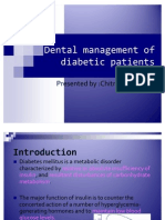 Dental Management of Diabetic Patients