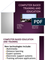 Computer Based Education and Training