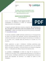 Nota Informativa – Manifestação de Preferências DCE e Contratação; 2011.ago.04