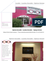 Opticien Grenoble Optique Horizon - Montures de lunettes Grenoble Optique Horizon