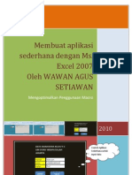 Membuat Aplikasi Sederhana Di Ms. Excel 2007