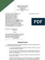 Trabasas Case Correction of Entry