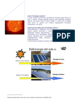 Energia Solare - Tipologie Impianti