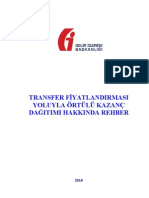 Transfer Fiyatlandırması Yoluyla Örtülü Kazanç Dağıtımı Hakkında Rehber