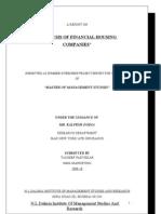 Analysis of Financial Housing Companies-tauseef Padvekar.