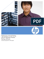 Optimizing Manual Testing With Hp Business Process Testing Software Whitepaper