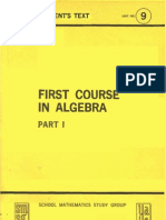 First Course in Algebra Part 1 Student