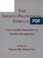 The Israeli Palestinian Conflict- from conflict resolution to conflict management