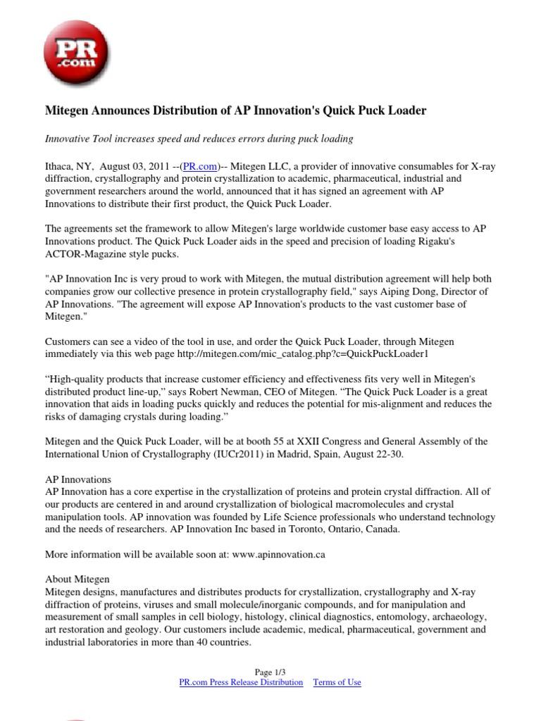 Mitegen Announces Distribution Of Ap Innovations Quick Puck Loader