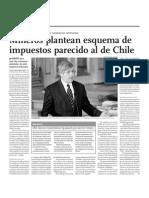 Mineros Plantean Esquema de Impuestos Parecido Al de Chile