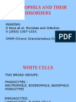 Neutrophils and Their Disorders