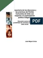 Urzúa, José. Trayectoria de los discursos y las prácticas del Partido Comunista de Chile con respecto a la participación política indígena