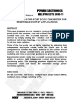 Abstracts - Power Electronics Projects 2010 - NCCT, Final Year Projects IEEE Projects