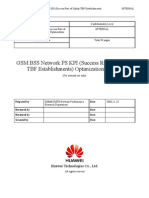 53 GSM BSS Network PS KPI (Uplink TBF Establishment Success Rate) Optimization Manual