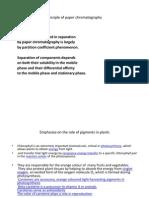 Principle of Paper Chromatography
