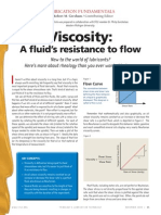 Rheology - Viscosity - Article - A Fluid's Resistance to Flow