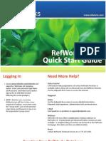 RefWorks 2.0 Quick Start Guide