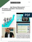 Nueva Socidad, Nueva Educación (2ª parte) pdf.