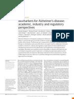 Biomarkers for Alzheimer's disease, NRDD 2010