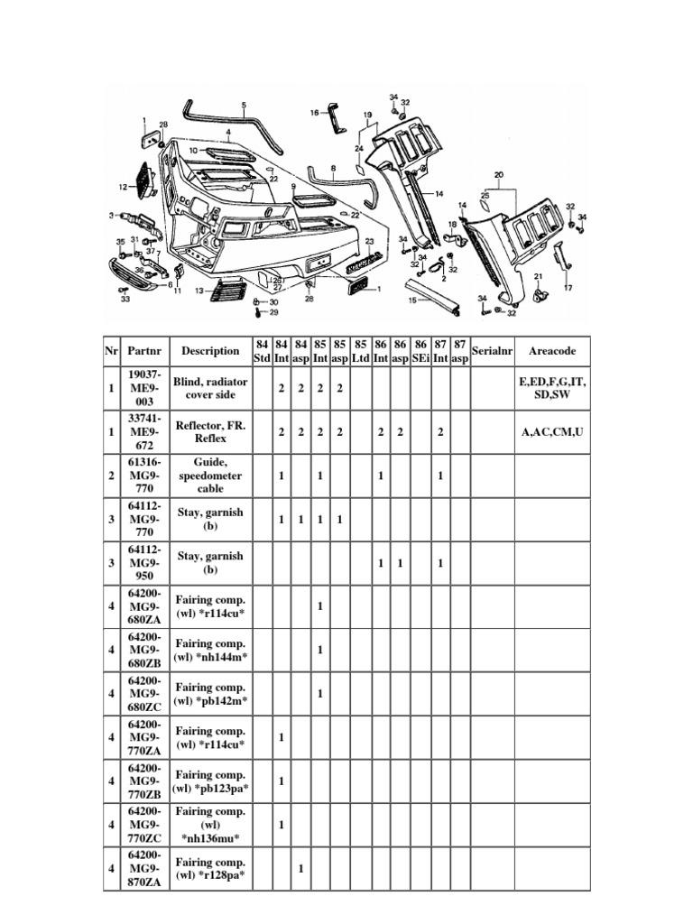 Honda Goldwing GL1200 Honda Parts Manual-4700B