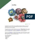 DIY - Flor de Fita