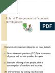 Role of Entrepreneur in Economic Development Slide