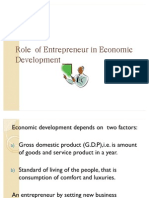 Role of Entrepreneur in Economic Development Slide