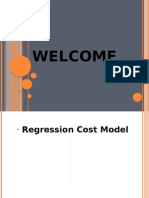 Regression Analysis for Cost Modelling