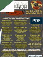 Fetal 2011 Cartel con la PROGRAMACION