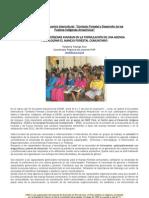 Organizaciones indígenas avanzan en la formulación de una agenda para lograr el manejo forestal comunitario