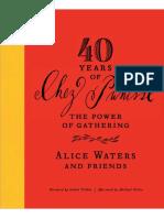 40 Years of Chez Panisse