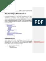 Plan Estratégico Administrativo CICH _ 2010-2011 (1)