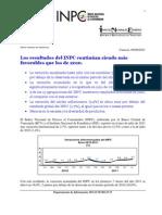 Reseña sobre Inflación (INPC) del BCV - Julio 2011