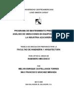 Analisis de Vibraciones en Equipos Criticos de La Industria Azucarera